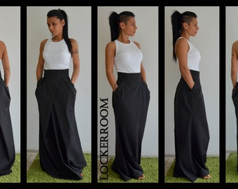Black Formal Skirt Floor Length
