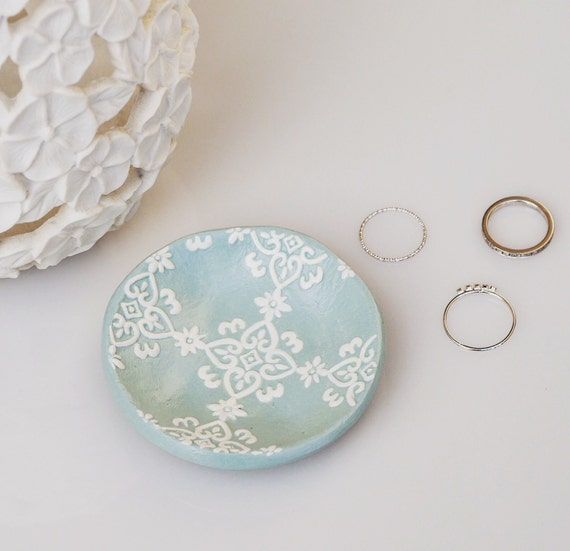 Mint Green Ring Holder Mint Green Wedding Ring By Paintmydream