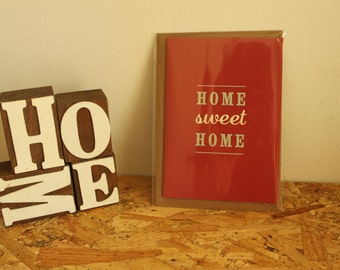 Home Sweet Home - New House Card