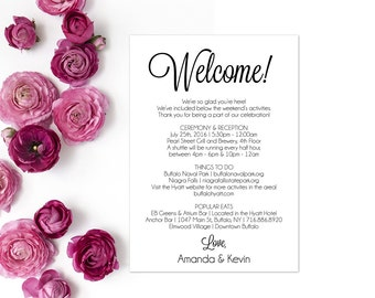 itinerary wedding welcome letter wedding itinerary editable itinerary itinerary schedule of