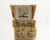 Lavender Oatmeal All Natural Soap Vegan Plant Based Soap made with Coconut Oil, Shea Butter, Olive Oil, Essential Oils Lavender and Mint