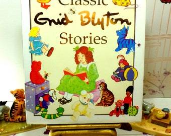 Enid Blyton Classic Stories Vintage Childrens Bedtime Story Book from the 1990s Large Format Glossy Illustrated