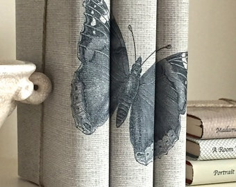Butterfly Book Decor, Decorative Books with Butterfly Custom Covers, Books for Interior Design, Wedding Prop, Book Cover Art, Book Decor