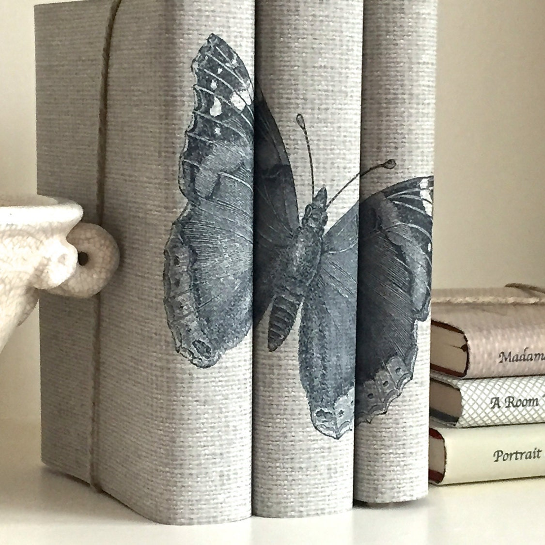 Uncategorized Book Decor butterfly book decor decorative books with custom