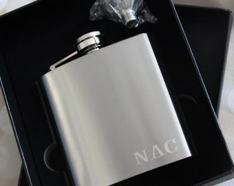 Groomsmen Gift, Personalized Gift for Him, Engraved Flask, Groomsman Gift, Personalized Flask, Hip Flask, Wedding, Best Man Gift, Usher Gift