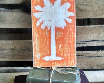 Clemson Hand Painted Wooden Sign, Rustic Clemson Art, Reclaimed Wood Sign, Rustic Sign, Clemson Sign, Rustic Wood Sign, Farmhouse Style Sign