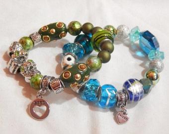 Best Friends Forever matching children's beaded bracelets