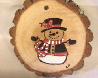 Charlie the snowman ornament or magnet