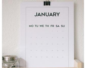 Printable Wall Calendar 2016