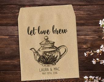 tea party favor tea bag favor rustic wedding tea party bridal shower