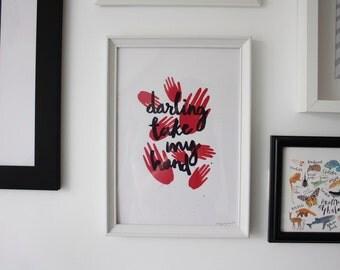 Darling Take My Hand | A4 Screen Print