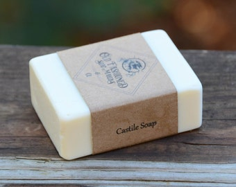 Pure Castile Soap (Unscented) / Handmade Cold Process Soap / Vegan Soap
