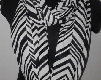 Zebra Infinity scarf
