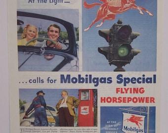 Original 1947 Mobilgas Magazine Advertisement