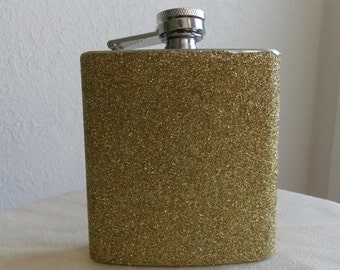 Gold Glitter Flask, Flask, Custom Flask, Golden Flask, Glitter Flask, Personalize Flask, Flasks,