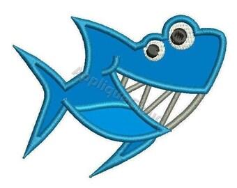 Shark  applique design ~ Shark  applique pattern ~ INSTANT DOWNLOAD digital file