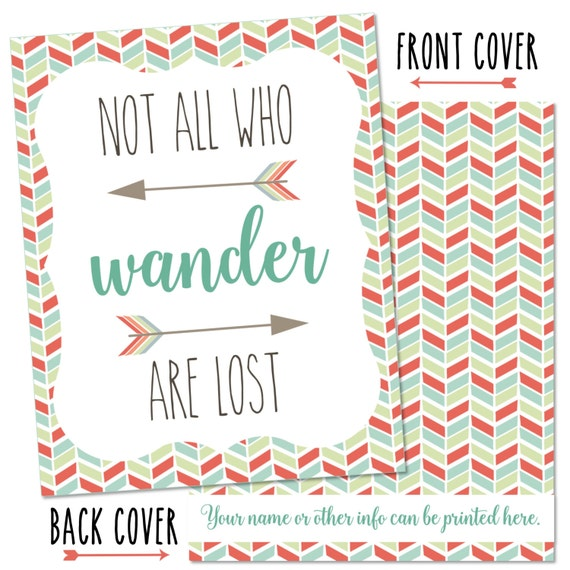 Personalized Planner Cover ~ Not All Who Wander ~ Choose Cover only or Cover Set - Many Planner Sizes Available!
