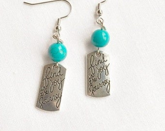 Inspirational Quote Jewelry - Inspirational Earrings - Quote Jewelry - Stocking Stuffer for Her