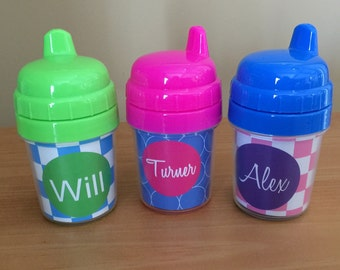 Personalized Baby's First Sippy Cup - Personalized Child's First Cup - Baby Sipper Cup