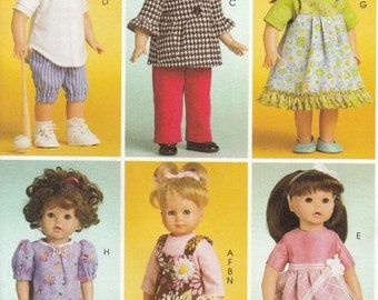 American Girl Doll Clothes Sewing Pattern, 18 Inch Doll Clothes Sewing Patterns, Uncut Sewing Pattern, McCalls Crafts M6137