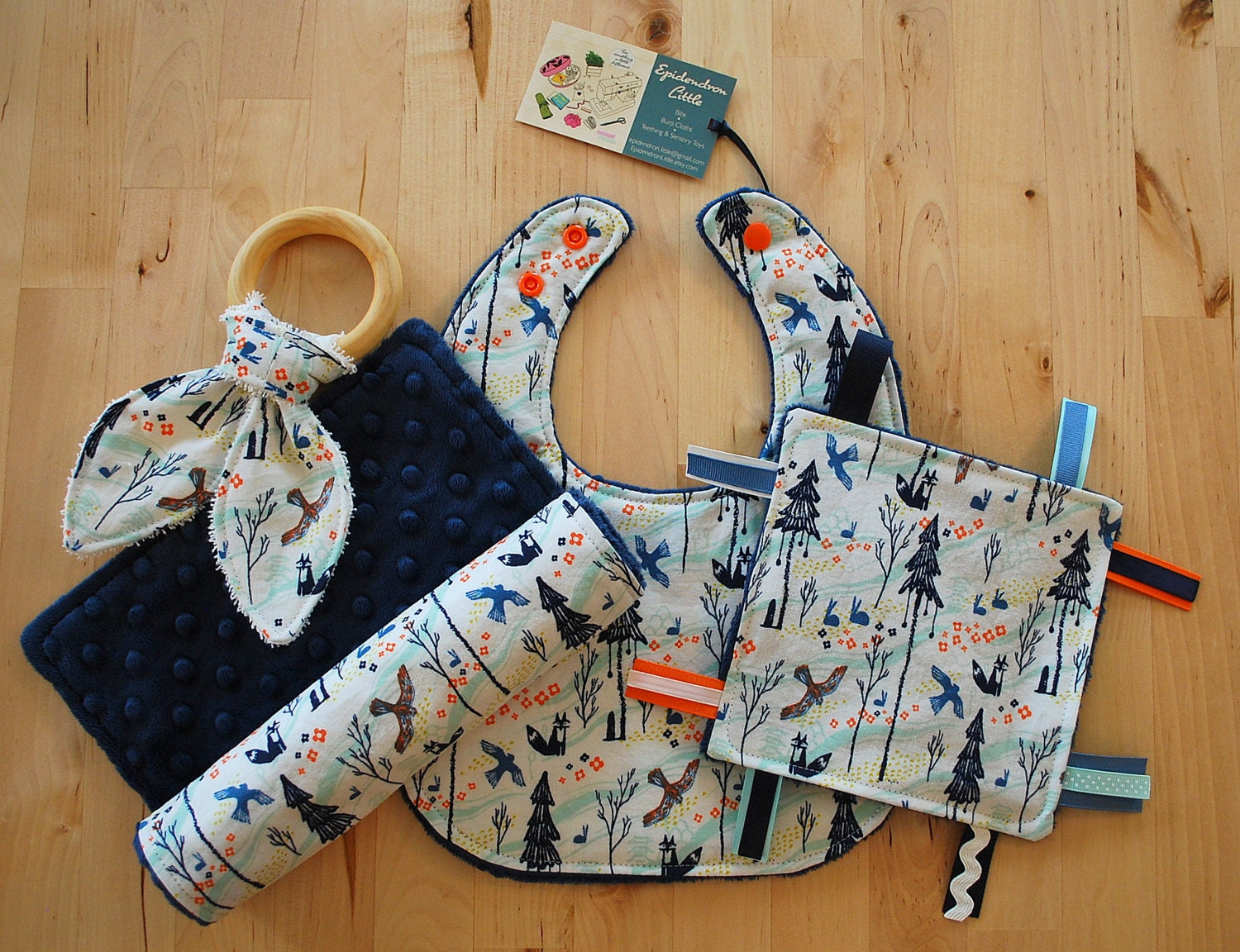 Baby Gifts From Japan : Baby boy gift set japanese woodland bib burp cloth