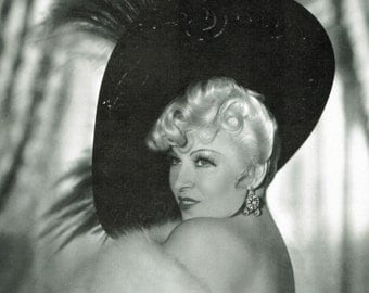 Mae West, Glamour Photo, Mae West Photo, West Photo, West Mae, Photo Glamour, Mae Photo, Photo West, Old Hollylwood, Hollywood Decor, Print