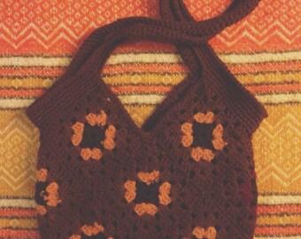 Crochet Floral Purse