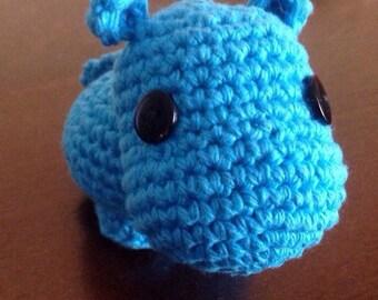Crochet Hippo Amigurumi, Stuffed Toy, Hippo Plush, Hippo Plushie, Stuffed Animal, Hippo Toy, Stuffed Hippo, Baby Shower Gift