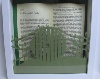 The Hobbit - framed art - paper cutting
