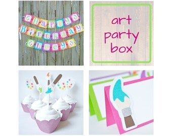Art party Birthday Package Box