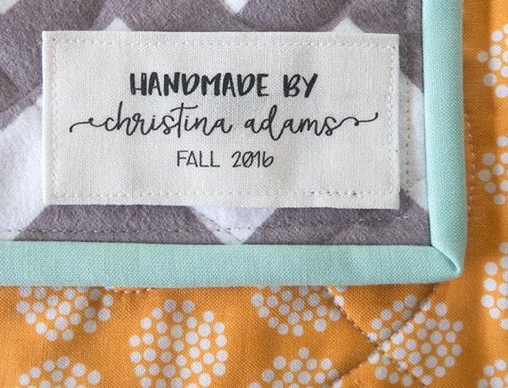 Personalized Label Quilt Tag Custom Quilt Label Sewing