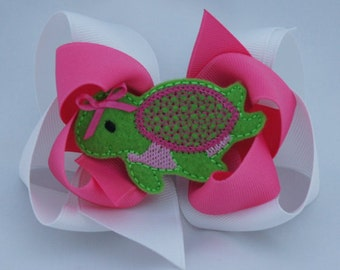 Three-In-One Sea Turtle Hair Bow