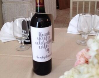 Wine Label/Stickers - Wedding Favor
