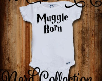 Baby Onesie Muggle Born Wizard Magic Witch New Baby Shower Gift Nursery Funny Custom Baby Clothing Infant Gerber