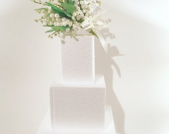 Lily of the valley sugar flower posies for wedding cake
