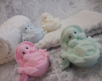Little Lamb Soap - Lamb Soap Favor - Gift Soap - Baptism Soap - Baby Shower Soap - Decorative Lamb Soap - Handmade Soap - Guest Soap