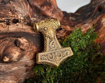 Raven Skane Thor's Hammer Mjolnir. Bronze Thor Hammer. Thor's Mjöllnir. Viking Pendant. Thors Hammers. Scania Gotland Sweden