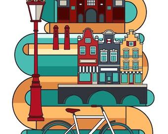 Amsterdam illustration // Love You Amsterdam