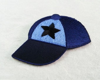 Snapback Cap Iron On Patch (M) - Cap Applique Embroidered Iron on Patch- Size 7.7x5.6 cm