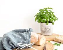 Linen Bread Bag - Natural Linen Products Bag - Drawstring Bag - Storage Bag