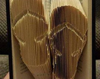 Book folding art pattern for flip flop sandals