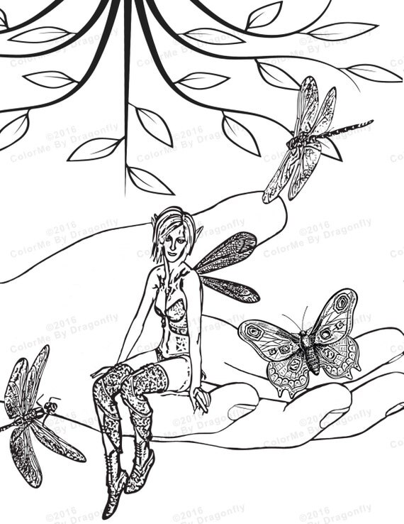 faerie coloring pages - woodland fairy coloring page fairy wings fairy fantasy