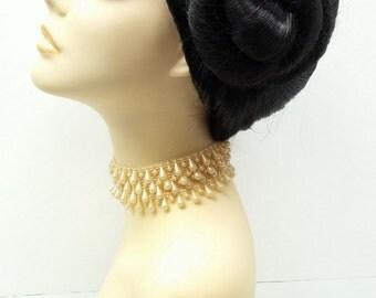 Off Black Princess Leia Star Wars Wig. Side Buns Wig. Costume Cosplay Role Play Wig.