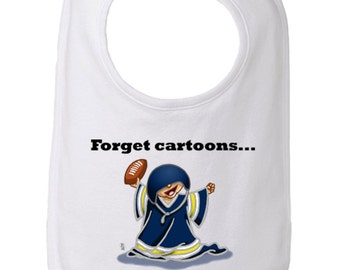 University of Michigan Baby Bib, Forget Cartoons the Wolverines are On Bib