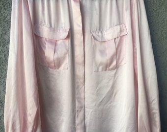 Light pink satin blouse