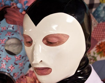 Heart Faced Latex Hood Pattern