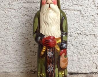 VAILLANCOURT Folk Art Chalkware Santas Club BELSNICKEL SANTA # 391 - 1994