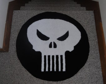"Punisher Rug-30"" Handmade"