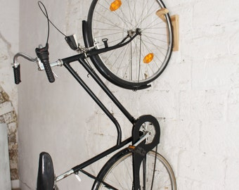 Tokyo - Bike rack / bike wall mount / wooden wall hooks / Natural