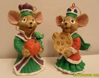 House of LLoyd 1996 Set of Mice Ornaments